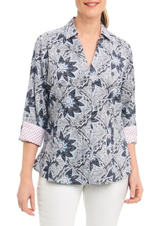 Foxcroft Taylor Summer Floral Shirt (Regular & Petite)