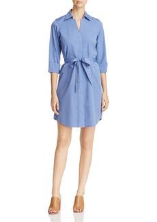 Foxcroft Three-Quarter Sleeve Poplin Shirt Dress