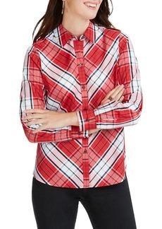 Foxcroft Tina Campbell Tartan Shirt (Regular & Petite)