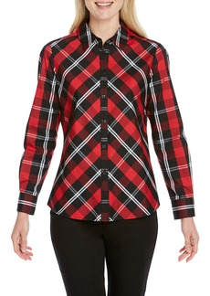 Foxcroft Tina Mackenzie Tartan Shirt (Regular & Petite)