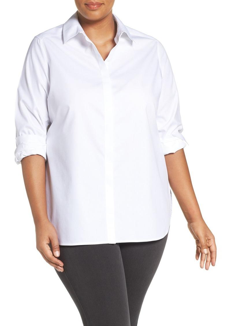 Foxcroft foxcroft 39 vanessa 39 no iron cotton shirt plus for No iron cotton shirts