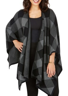 Foxcroft Walker Check Plaid Ruana