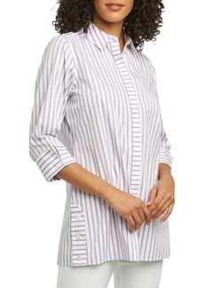 Foxcroft Wanda Stripe Tunic Shirt