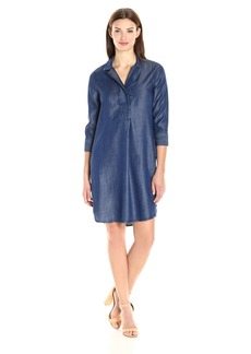 Foxcroft Women's 3/ Sleeve Nikki Denim Tencel Dress