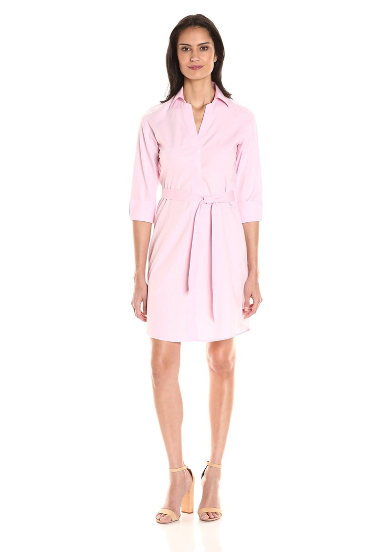 Foxcroft Women's 3/ Sleeve Taylor Shirt Dress Essential Non Iron
