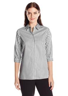 Foxcroft Women's 3/4 Sleeve Gigi Sateen Stripe Tunic