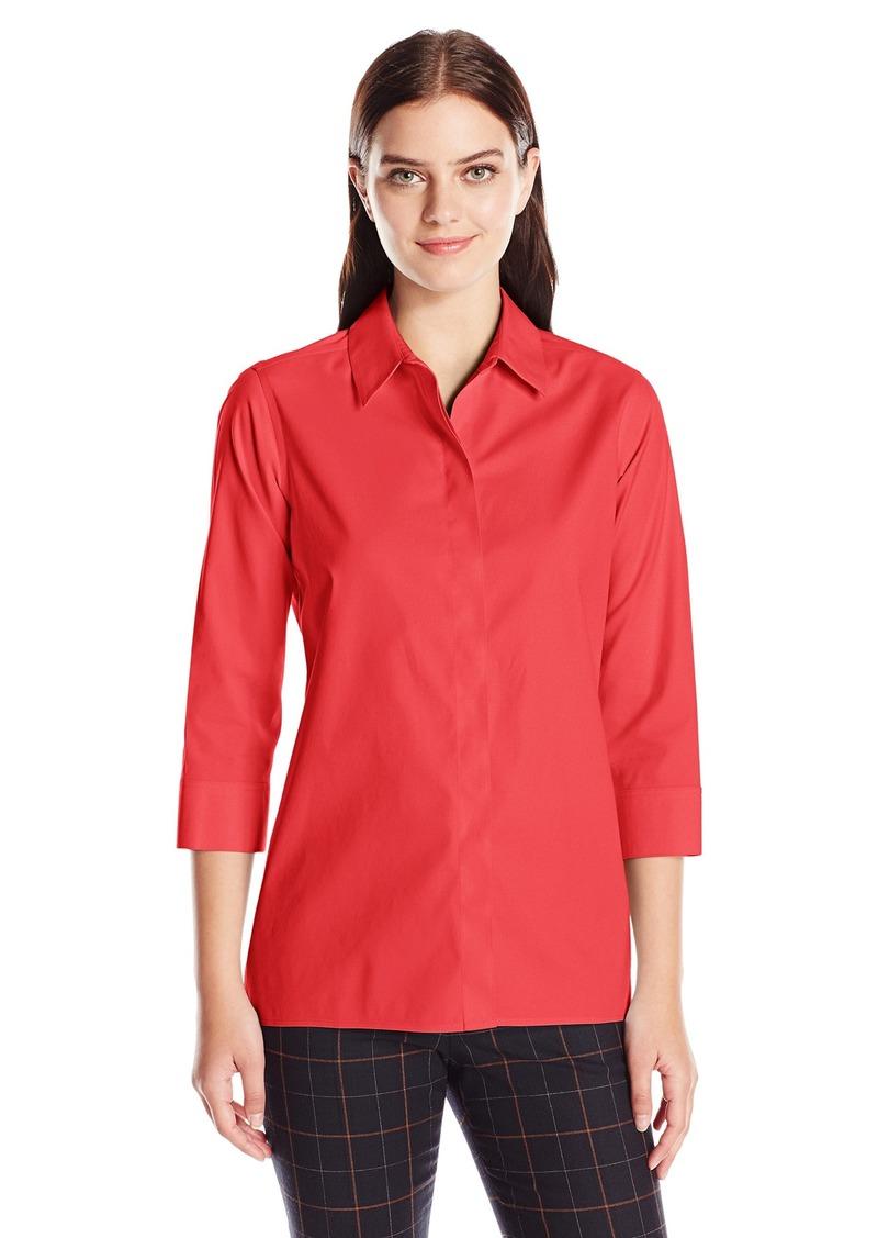 Foxcroft Women's 3/4 Sleeve Gigi Tunic in Solid Stretch Non Iron