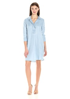 Foxcroft Women's 3/4 Sleeve Nikki Denim Tencel Dress