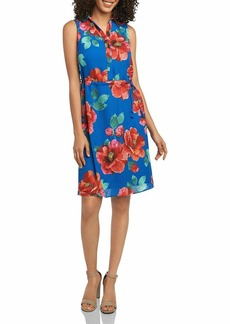 Foxcroft Women's Adessia Hibiscus Floral Dress