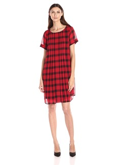 Foxcroft Women's Cap Sleeve Buffalo Plaid Dress