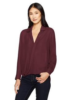 Foxcroft Women's Claudette Long Sleeve Solid Blouse