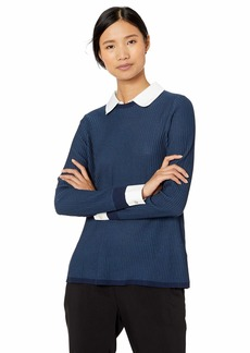 Foxcroft Women's Dakota Ribbed 2-fer Sweater