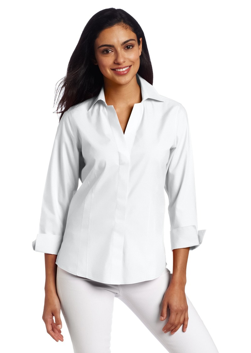 Foxcroft Women's Hidden Placket Shirt