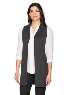 Foxcroft Women's Jodi Solid Sweater Vest  M