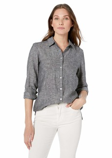 Foxcroft Women's Journey Chambray Linen Shirt