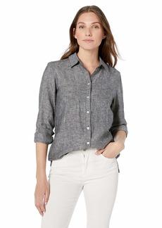 Foxcroft Women's Journey Chambray Linen Shirt