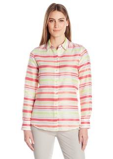 Foxcroft Women's Long Sleeve Addison Satin Stripe Blouse