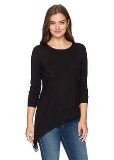 Foxcroft Women's Long Sleeve Asymmetrical Pullover Knit  S