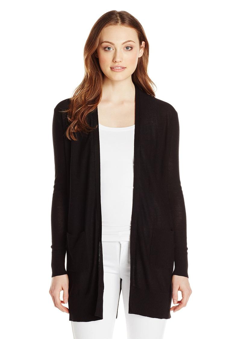 Foxcroft Women's Long Sleeve Back Button Duster Cardigan