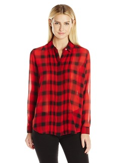 Foxcroft Women's Long Sleeve Buffalo Plaid Blouse