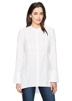 Foxcroft Women's Long Sleeve Cally Solid Stretch Non Iron Tunic