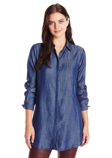 Foxcroft Women's Long Sleeve Cici Denim Tencel Tunic