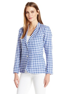 Foxcroft Women's Long Sleeve Demi Gingham Blazer