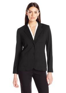 Foxcroft Women's Long Sleeve Demi Solid Ponte Blazer  M