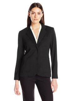 Foxcroft Women's Long Sleeve Demi Solid Ponte Blazer  XL