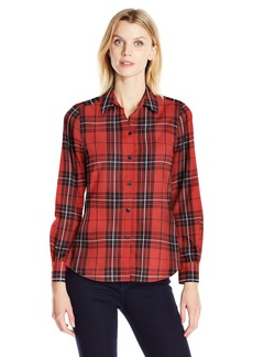 Foxcroft Women's Long Sleeve Holiday Tartan Shirt