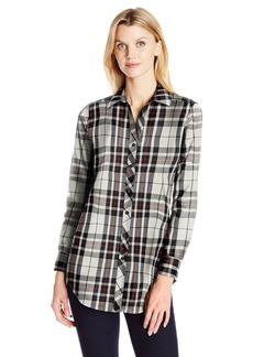 Foxcroft Women's Long Sleeve Holiday Tartan Tunic