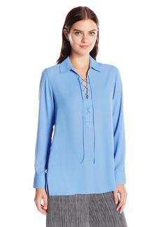 Foxcroft Women's Long Sleeve Leah Solid Blouse