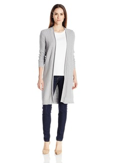 Foxcroft Women's Long Sleeve Mix Stitch Duster Cardigan