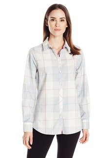 Foxcroft Women's Long Sleeve Winter Plaid Shirt