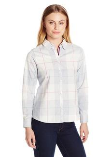 Foxcroft Women's Size Long Sleeve Winter Plaid Shirt