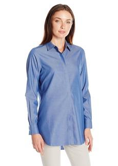 Foxcroft Women's Long Sleeve Vanessa Non Iron Tunic