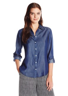 Foxcroft Women's Long Sleeve Zoey Denim Tencel Shirt
