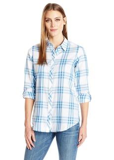 Foxcroft Women's Long Sleeve Zoey Herringbone Plaid Shirt Multi