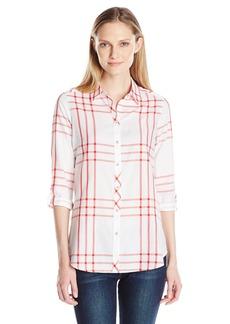 Foxcroft Women's Long Sleeve Zoey Herringbone Window Pane Shirt