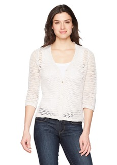 Foxcroft Women's Marie Open Stitch Cardigan