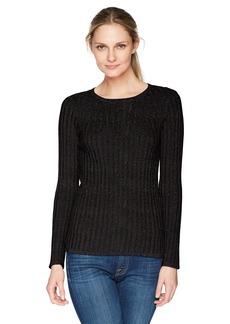 Foxcroft Women's Mindy Lurex Rib Sweater