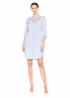 Foxcroft Women's Miri Crinkle Gingham Dress Perfect peri