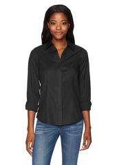 Foxcroft Women's Petite Ellen Solid Stretch Non Iron Shirt