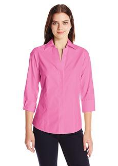 Foxcroft Women's Petite Size 3/4 Sleeve Taylor Essential Non Iron Shirt