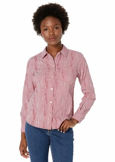Foxcroft Women's Petite The Hampton Crinkle Check Shirt
