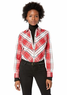 Foxcroft Women's Petite Tina Campbell Tartan Plaid Shirt red/Multi