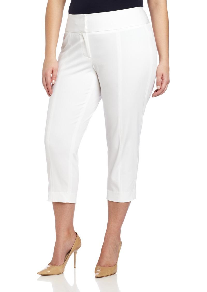Foxcroft Women's Plus Size Bi Stretch Twill Ankle Pant