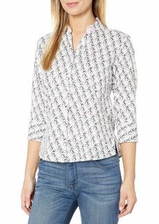 Foxcroft Women's Petite Mary Toucan Wrinkle Free Shirt