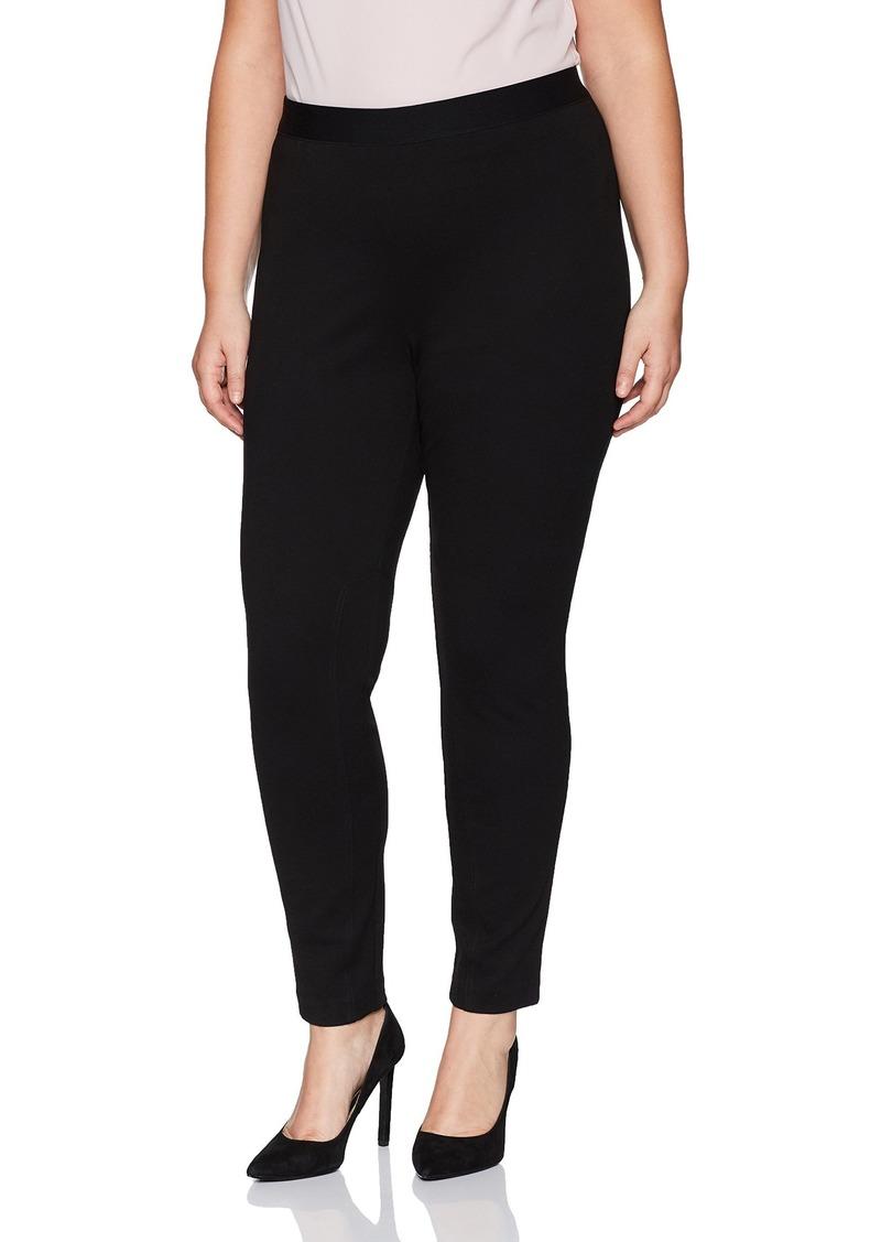Foxcroft Women's Plus Size Naomi Solid Ponte Legging