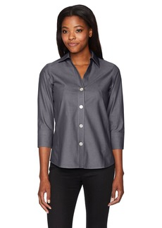 Foxcroft Women's Plus Size Non-Iron Essential Paityn Shirt